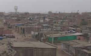 A zancadas: vista del distrito