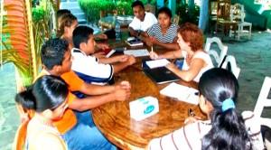 Previniendo el SIDA: reunión