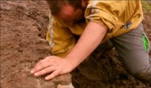 La Reguera: cavar.