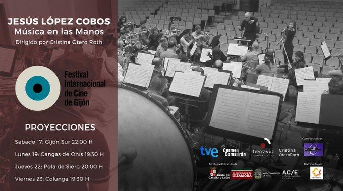 Cartel de proyecciones de 'Música en las manos' en el FICX 2018